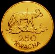 London Coins : A167 : Lot 2062 : Zambia 250 Kwacha Gold 1979 World Conservation Series Obverse: Head of President K.D.Kaunda right, R...