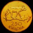 London Coins : A167 : Lot 2063 : Zambia 250 Kwacha Gold 1979 World Conservation Series Obverse: Head of President K.D.Kaunda right, R...