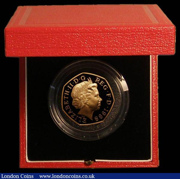 Fifty Pence 1998 50th Anniversary of the NHS Gold Proof S.H10 FDC in the Royal Mint box of issue with certificate : English Cased : Auction 167 : Lot 23