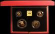 London Coins : A167 : Lot 232 : United Kingdom 1997 Gold Proof Four Coin Sovereign Collection, Gold Five Pounds, Two Pounds 'Te...