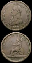 London Coins : A167 : Lot 2398 : USA Washington Halfpenny 1783 Large Bust, UNITED STATES reverse legend, Plain edge Breen 1203 VG, al...
