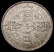 London Coins : A167 : Lot 2433 : Florin 1856 No Stop after date ESC 813A, Bull 2833 GVF/NEF with some rim nicks, the reverse with a s...