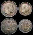 London Coins : A167 : Lot 2482 : Maundy Set 1903 ESC 2519, Bull 3609 A/UNC to UNC with an attractive matching tone