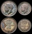 London Coins : A167 : Lot 2491 : Maundy Set 1916 ESC 2533, Bull 3976 A/UNC to UNC and nicely toned with some handling marks