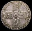 London Coins : A167 : Lot 2537 : Sixpence 1758 as ESC 1623, Bull 1763 the 8 overstruck, the underlying figure unclear NEF with an att...