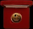 London Coins : A167 : Lot 56 : Five Pound Crown 2005 Trafalgar Gold Proof FDC in the red case of issue with certificate