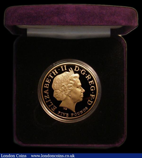 Five Pound Crown 2006 Queen Elizabeth II 80th Birthday Gold Proof S.L16 FDC in the Royal Mint box of issue with certificate : English Cased : Auction 167 : Lot 57