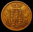 London Coins : A167 : Lot 682 : Half Sovereign 1834 Small size, on a 17.9mm flan, Marsh 410 Good Fine/Fine and a collectable example...