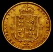 London Coins : A167 : Lot 701 : Half Sovereign 1887 Jubilee Head Imperfect J in J.E.B Marsh 478C NVF with a heavier contact mark on ...