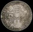 London Coins : A167 : Lot 742 : Halfcrown 1677 VICESIMO NONO ESC 479, Bull 475 Fine/Good Fine with a rim nick below the bust, a litt...