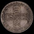 London Coins : A167 : Lot 743 : Halfcrown 1687 TERTIO 7 over 6  ESC 499 rare, EF with a pleasing even tone, a few flecks of haymarki...