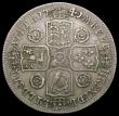 London Coins : A167 : Lot 761 : Halfcrown 1741 Roses with traces of a double striking to the 1, the 4 with signs of an overstrike, b...
