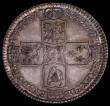 London Coins : A167 : Lot 763 : Halfcrown 1745 LIMA ESC 605, Bull 1687 GVF/NEF with a superb original and colourful tone, a most att...