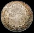 London Coins : A167 : Lot 814 : Halfcrown 1907 ESC 752, Bull 3573 EF with some contact marks and an edge nick, retaining some lustre...