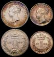 London Coins : A167 : Lot 836 : Maundy Set 1845 ESC 2455, Bull 3488 EF to A/UNC and attractively toned