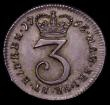 London Coins : A167 : Lot 845 : Maundy Threepence 1765 ESC 2035, Bull 2257 UNC with just the lightest hint of cabinet friction to th...