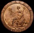 London Coins : A167 : Lot 855 : Penny 1797 10 Leaves Peck 1132 UNC with light cabinet friction and around 40% lustre, these extremel...