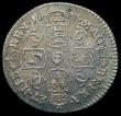 London Coins : A167 : Lot 940 : Sixpence 1677 ESC 1516, Bull 571 the G of MAG overstruck the G of MAG overstruck, the underlying fig...
