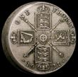 London Coins : A168 : Lot 1030 : Mint Error - Mis-Strike Florin 1921 struck around 10% off-centre with a raised lip from 12 o'cl...