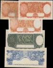 "London Coins : A168 : Lot 105 : Australia (5) in various grades aVF/VF to EF comprising Commonwealth Bank ND (1938-1952) ""Georg..."