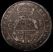 London Coins : A168 : Lot 1072 : Crown Charles I First Milled Coinage by Briot (1631-1632) S.2852 mintmark flower and B nearer VF tha...