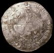 London Coins : A168 : Lot 1095 : Halfcrown Charles I Group III, type 3a2, Rough ground under horse, King wears cloak flying from shou...