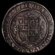London Coins : A168 : Lot 1106 : Halfcrown James I Third Coinage, Plain ground line, Shield with bird-headed harp S.2666 mintmark Lis...