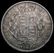 London Coins : A168 : Lot 1143 : Crown 1845 Cinquefoil stops on edge ESC 282, Bull 2564 NVF