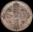 London Coins : A168 : Lot 1148 : Crown 1847 Gothic, Plain Edge Proof with N over inverted N in UNITA ESC 291, Bull 291b, this overstr...