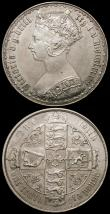 London Coins : A168 : Lot 1245 : Florins (2) 1883 ESC 859, Bull 2905 EF, 1884 ESC 860, Bull 2907 GVF/NEF toned the obverse with some ...