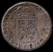 London Coins : A168 : Lot 1323 : Halfcrown 1689 First Shields, Caul and Interior frosted, with pearls, Second L over M in GVLIELMVS U...