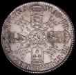 London Coins : A168 : Lot 1324 : Halfcrown 1693 No Stop after GRATIA ESC 519, No equivalent type in Bull, GVF, with some adjustment l...