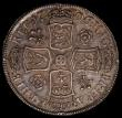 London Coins : A168 : Lot 1331 : Halfcrown 1706 Roses and Plumes ESC 572 drapery on high point of neck weak as usual otherwise EF the...
