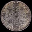 London Coins : A168 : Lot 1335 : Halfcrown 1708 Plumes ESC 578, Bull 1369 NVF/VF or very near so with attractive toning, listed as ra...