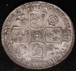 London Coins : A168 : Lot 1337 : Halfcrown 1720 20 over 17 Roses and Plumes SEXTO ESC 590  Bull 1555 lustrous EF with the usual minor...