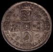 London Coins : A168 : Lot 1338 : Halfcrown 1723 SSC ESC 592  Bull  1557 richly toned EF reverse better two small nicks on the King...