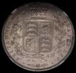London Coins : A168 : Lot 1362 : Halfcrown 1844 44 with no serifs, ESC 677, Bull 2720 in an NGC holder and graded AU58, a pleasing ex...