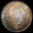 London Coins : A168 : Lot 1383 : Halfcrown 1895 ESC 729, Bull 2781, Davies 667 dies 2B, UNC with an attractive and multi-coloured ton...