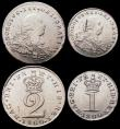London Coins : A168 : Lot 1423 : Maundy Set 1800 an assembled set ESC  2421, Bull 2239 comprising Fourpence 1800 Fine, Threepence 180...