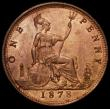 London Coins : A168 : Lot 1456 : Penny 1878 Freeman 94 dies 8+J UNC with light cabinet friction, retaining around 75% mint lustre, ve...