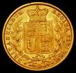 London Coins : A168 : Lot 1539 : Sovereign 1855 WW Raised on truncation S.3852C NEF with an area of light discolouration on the tip o...
