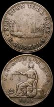 London Coins : A168 : Lot 1976 : Australia Halfpenny Token 1855 R.Josephs, New Town, Tasmania KM#Tn140 Good Fine, New Zealand Penny S...