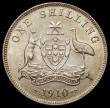 London Coins : A168 : Lot 1978 : Australia Shilling 1910 KM#20 UNC or near and with a handsome tone