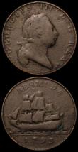London Coins : A168 : Lot 1982 : Bermuda Pennies 1793 KM#5 (3) NVG to VG