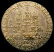London Coins : A168 : Lot 1995 : Danish West Indies 24 Skilling 1763 an off metal strike, in brass? weight 5.86 grammes About VF