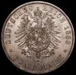 London Coins : A168 : Lot 2011 : German States - Prussia 5 Marks 1888A Friedrich III KM#512 GEF with underlying lustre and a few very...