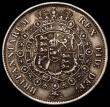 London Coins : A168 : Lot 2161 : Halfcrown 1817 Bull Head E of DEF struck over an F, VF with some edge nicks, currently unlisted by B...