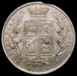 London Coins : A168 : Lot 2168 : Halfcrown 1881 ESC 707, Bull 2758, Davies 590 dies 4D UNC with a planchet flaw at 6 o'clock on ...
