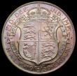 London Coins : A168 : Lot 2184 : Halfcrown 1920 ESC 767, Davies 1673, dies 1+B, GEF with a colourful pastel tone, a very rare die com...