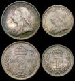 London Coins : A168 : Lot 2231 : Maundy Set 1893 ESC 2508, Bull 3551 UNC and attractively toned